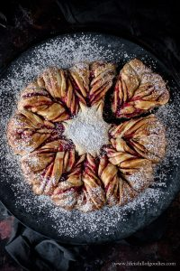 Marmeladensonne – aus fluffigem Kartoffelhefeteig