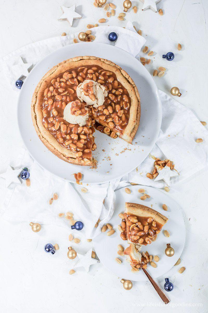 Zimtkäsekuchen mit Karamell Erdnüssen