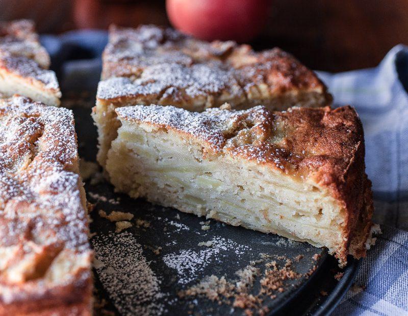 Saftiger schneller Apfelkuchen