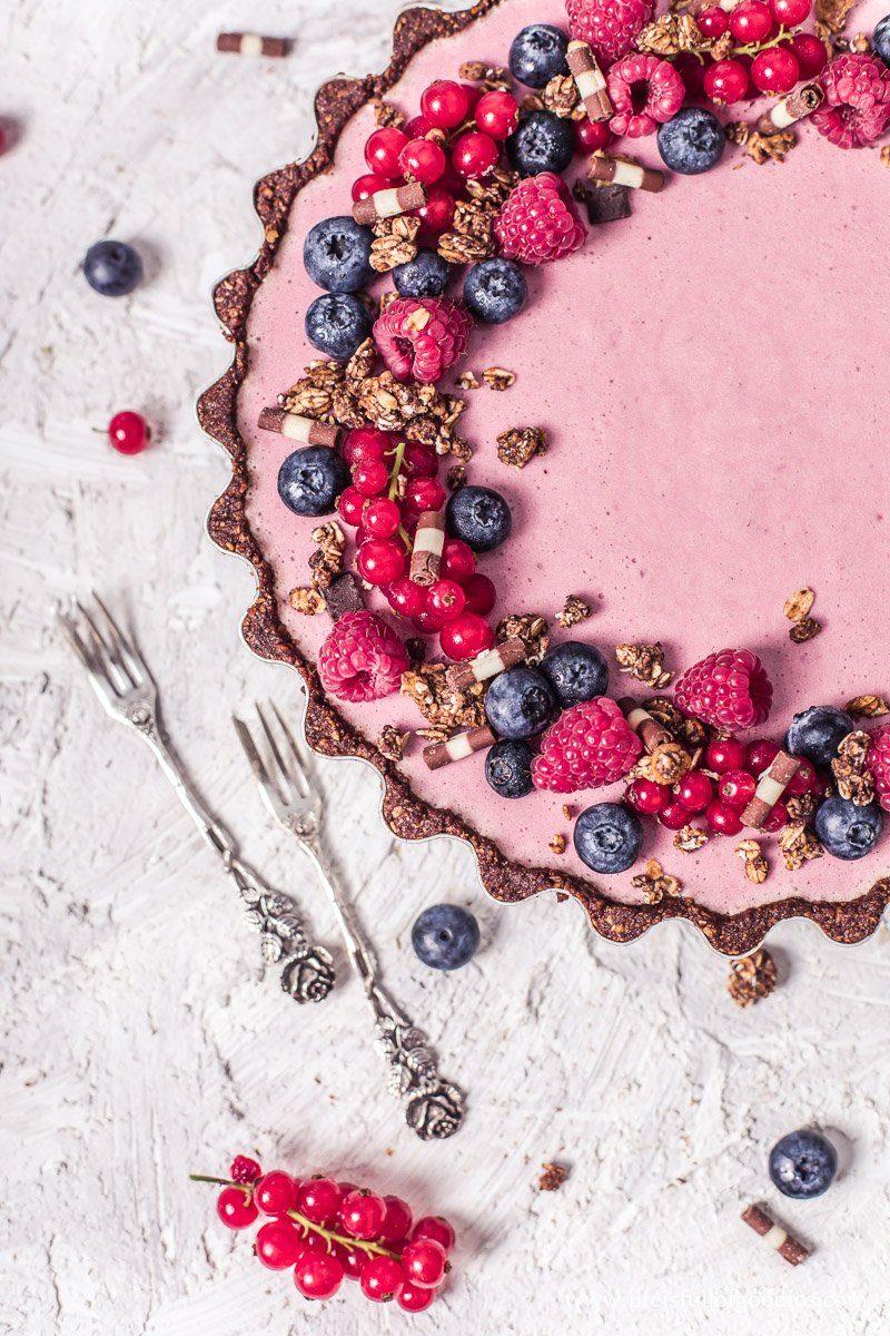 Fruchtmousse Tarte in gesunder Variante