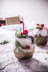Himbeer Minz Cocktail
