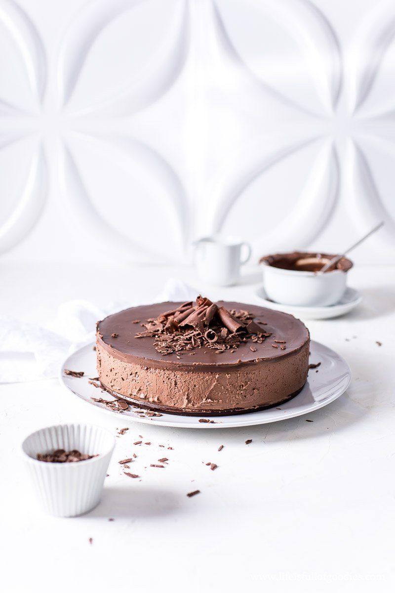 Chocolate Cheesecake ohne Backen - eine unverschämte Schokobombe!