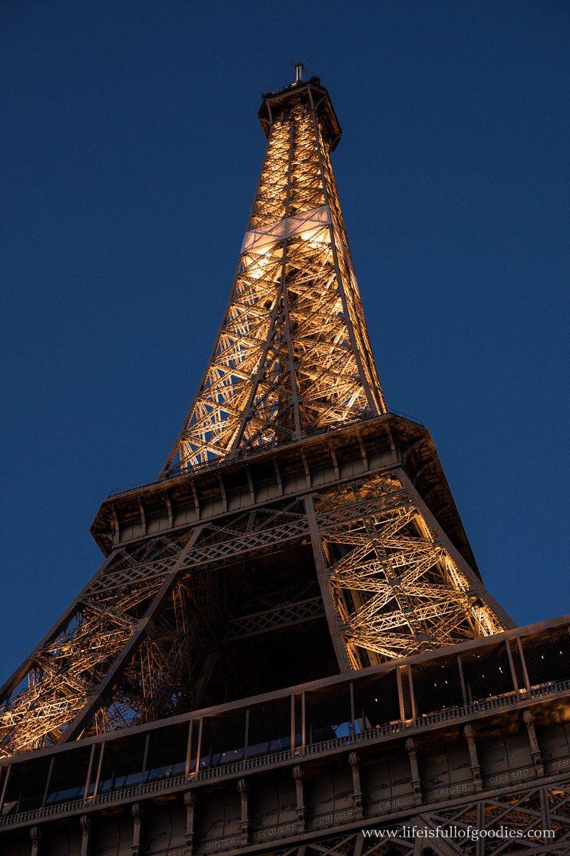 Ein Abend im Jules Verne im Eiffelturm in Paris