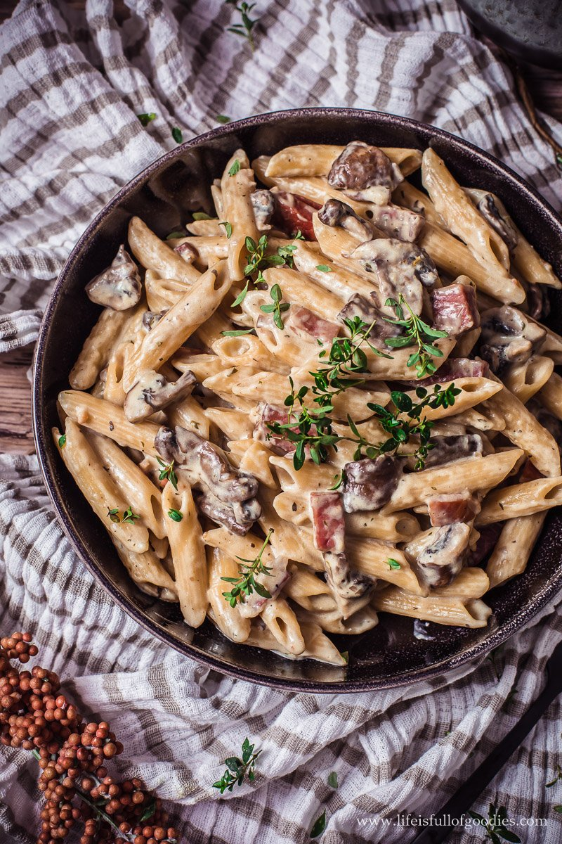 Cremige One Pot Pilz Pasta