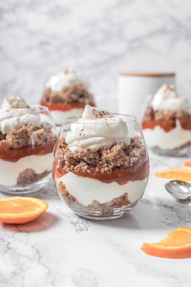 Nusskuchen-Orangen-Trifle - optional low carb!