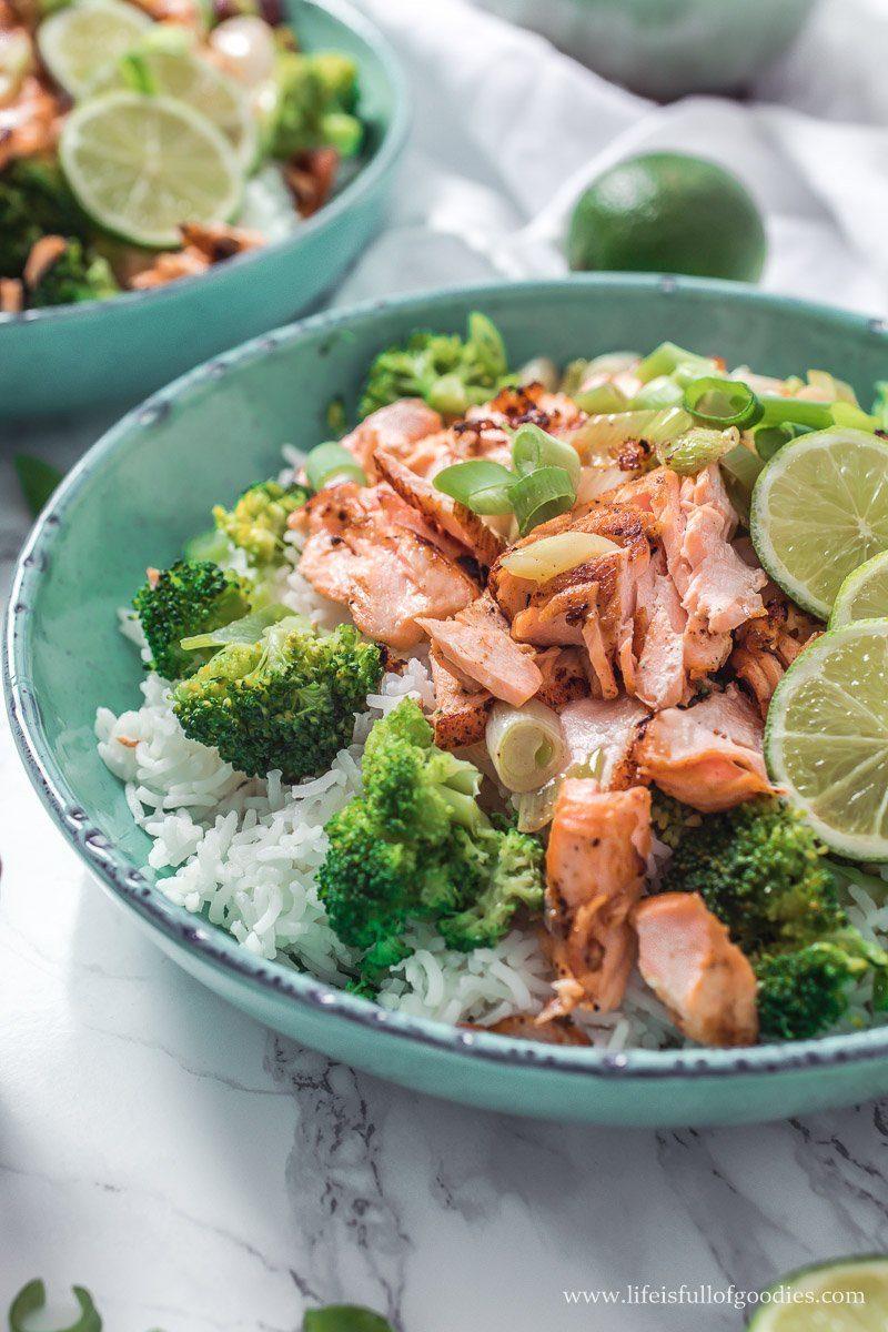Pulled Lachs mit Brokkolireis
