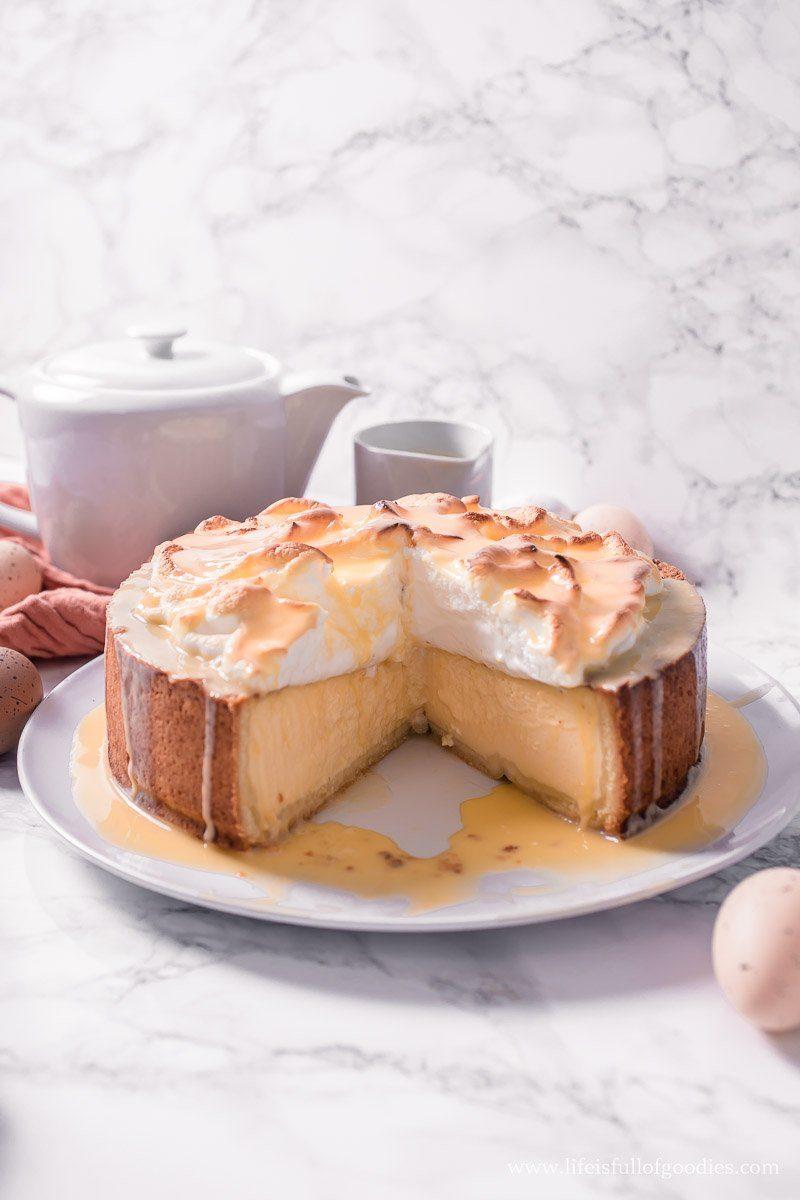 Eierlikör San Sebastian Cheesecake mit Boden