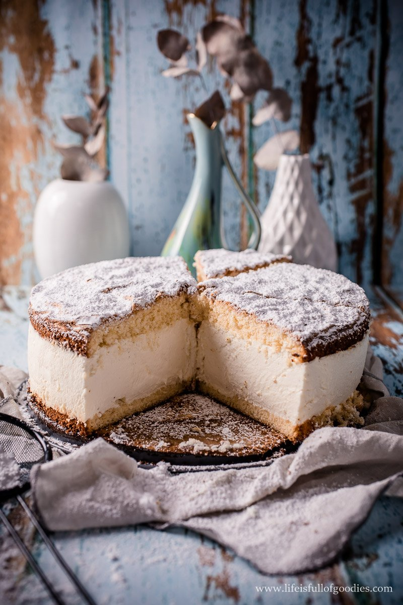 Käsesahne Torte mit Vanille