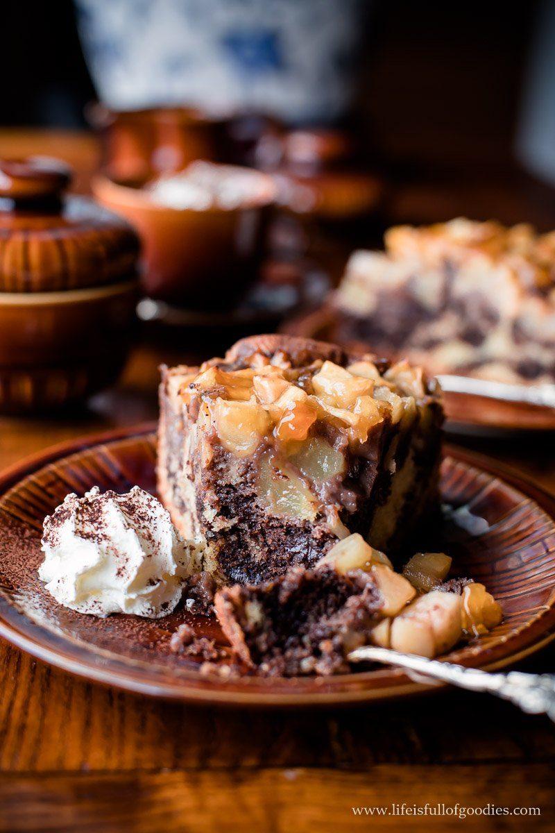 Marmorkuchen mit Apfelhaube