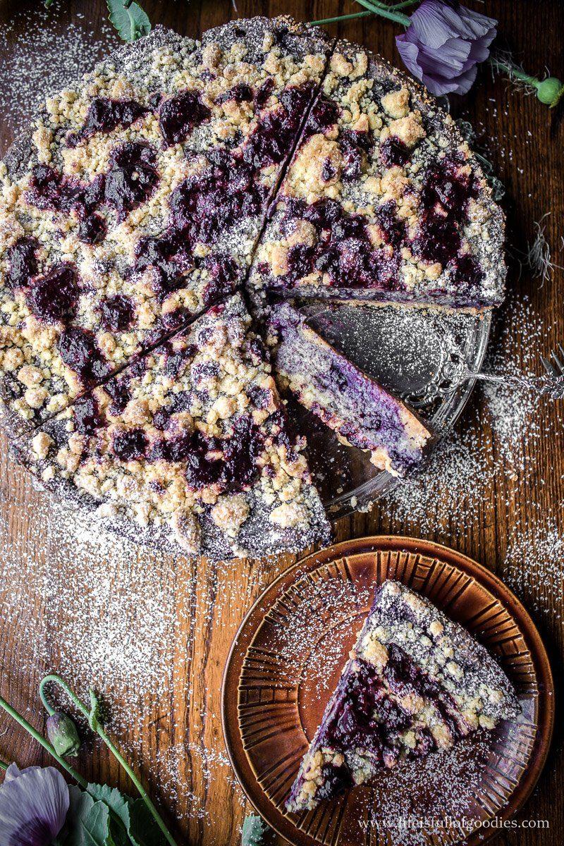 Blaubeer Mohnkuchen
