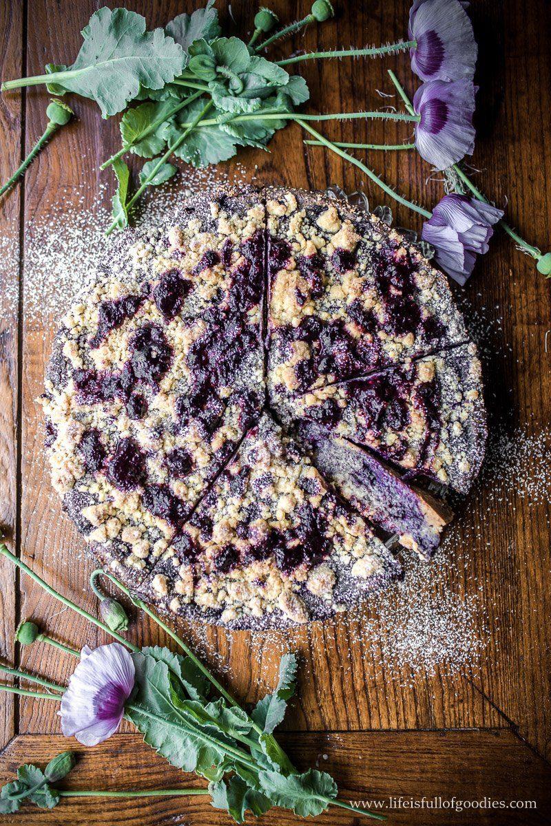 Blaubeer Mohnkuchen mit Streuseln