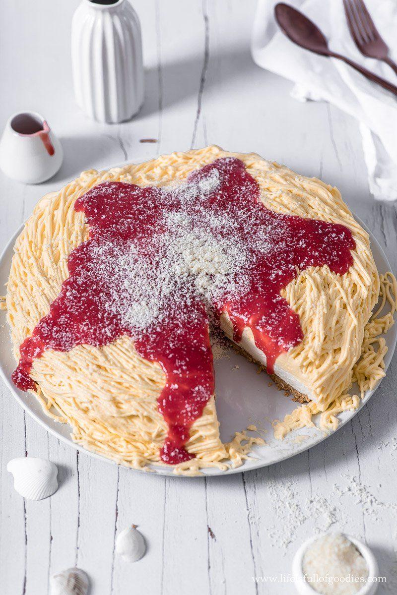 Spaghettieis Torte - zwei Varianten, als Torte und als Eistorte