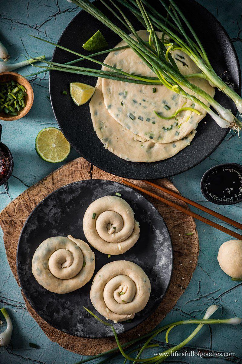 Chinesische Lauchzwiebel Pfannkuchen