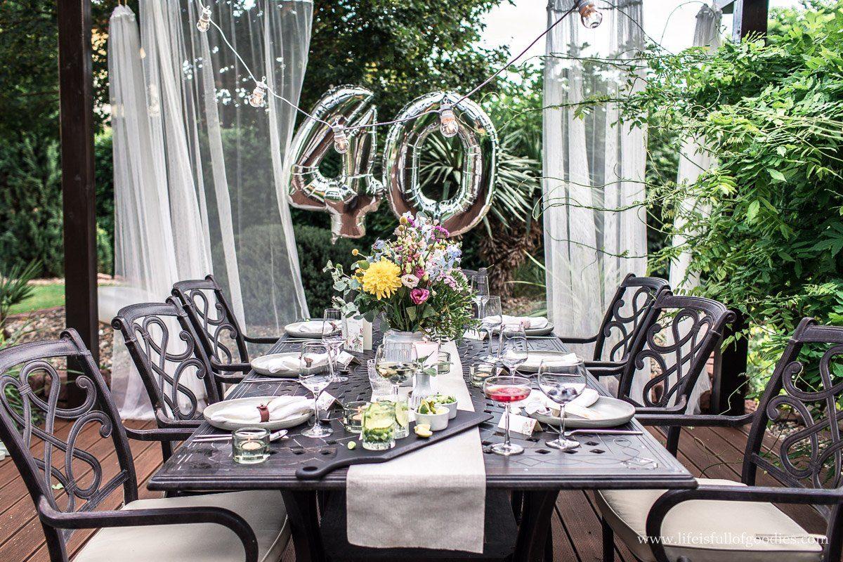 Gartenparty - zwar ohne Gäste, dafür aber als Shooting