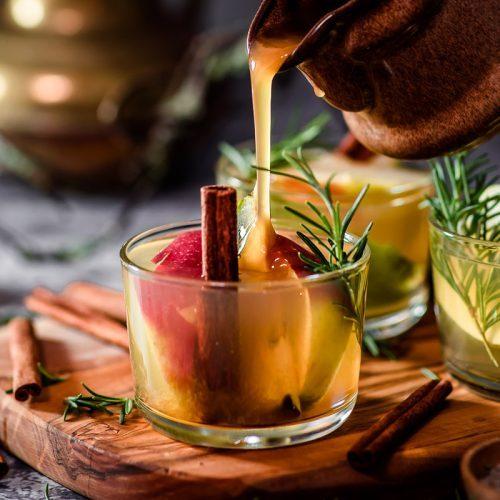 Apfel-Birnen-Punsch mit Ingwersirup - alkoholfrei