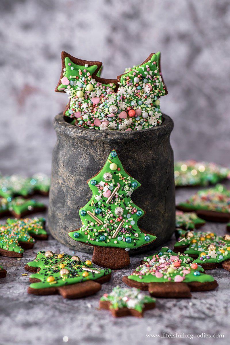 Weihnachtsbäume aus Lebkuchen