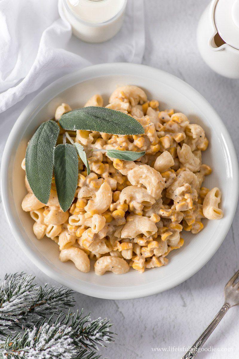 Creamed Corn Pasta - Nudeln in Mais Sahnesauce