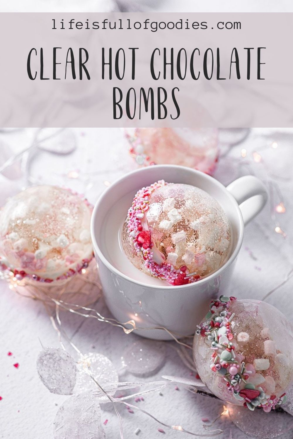 Clear Hot Chocolate Bombs