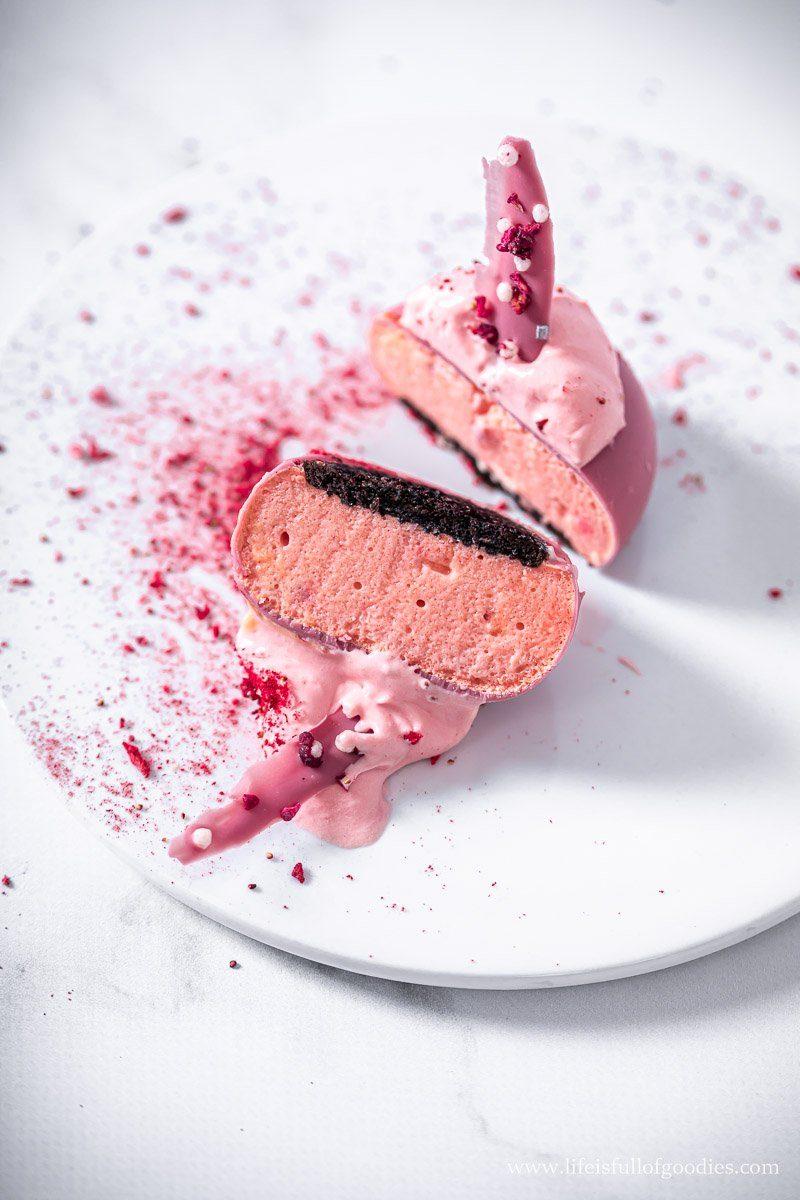 Pink Bunny Törtchen - Erdbeermousse und Ruby Schokolade