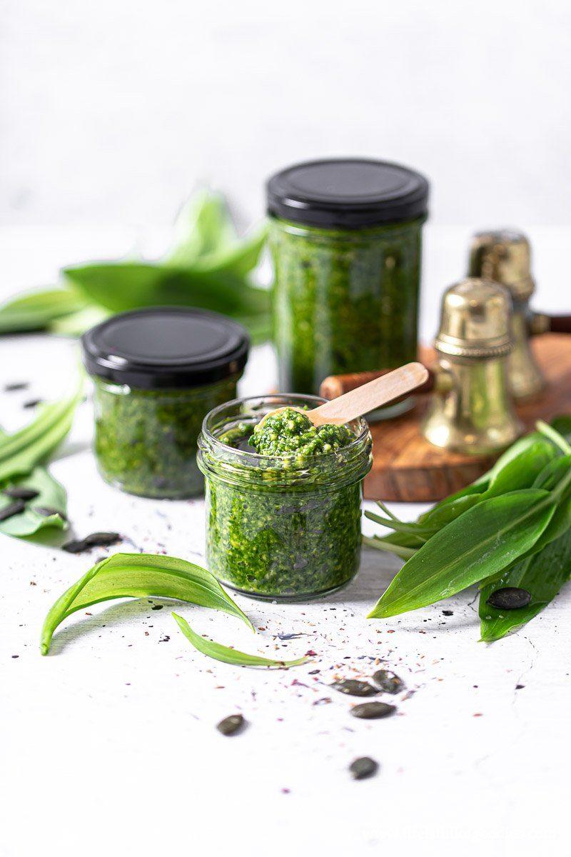Bärlauch Pesto - mein veganes Grundrezept in drei Varianten