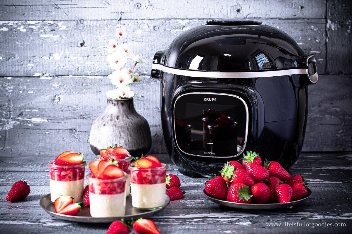 Kokos Grießpudding mit Erdbeeren
