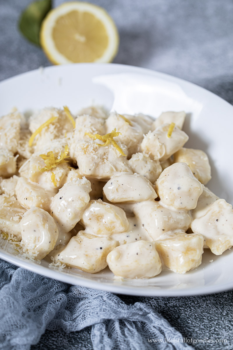 Selbstgemachte Gnocchi mit Zitronen Sahnesauce