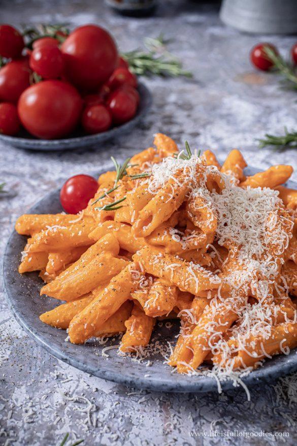 Ofengeröstete Tomatencreme Pasta
